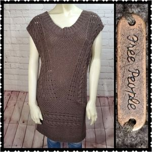 Free People Chunky knit sweater dress small